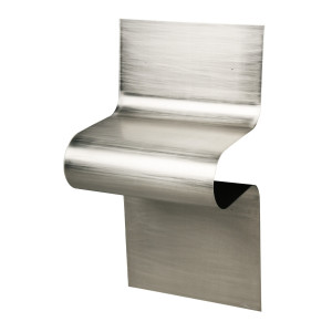 WAVE Aluminium Side Table - silver varnished aluminium