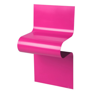 WAVE Aluminium Side Table - Pink