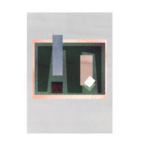 Green Window Composition Artprint