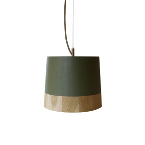 KIKKE & HEBBE Boost Pendant Lamp Wood - Army Green