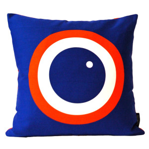 English Breakfast Printed Cushion - Blueberry