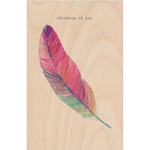 Timbergram Houten Poster 29,7x42 cm - Feather
