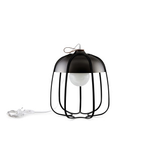 Tull Cage Ceiling Lamp - Metal - Black Nickel/Black