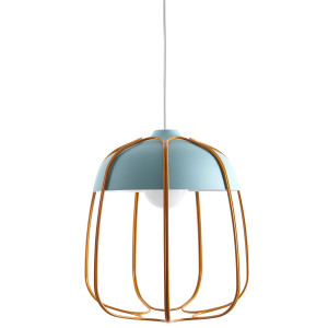 Tull Cage Ceiling Lamp - Matt - Turquoise/Orange