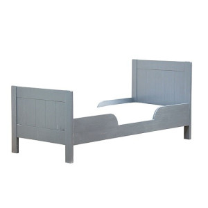 Timzowood Living Dax Juniorbed 150 x 70 cm - Antraciet Doorgeschuurd