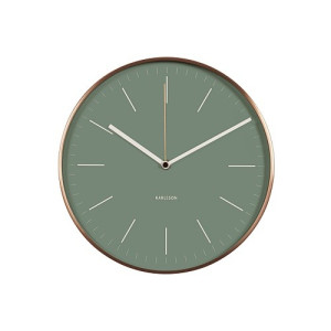 Karlsson Minimal Wandklok 27,5 cm - Jungle Green
