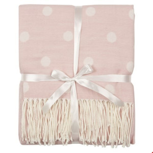 Clayre & Eef Plaid Polyester/Viscode 130 x 150 cm - Roze