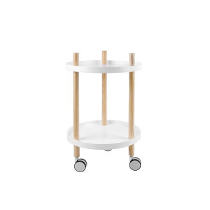 Leitmotiv Fushion Trolley MDF Rond 63 x Ø40 cm - Wit