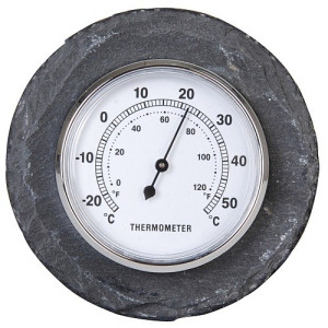 Esschert Design Leisteen Thermometer Rond