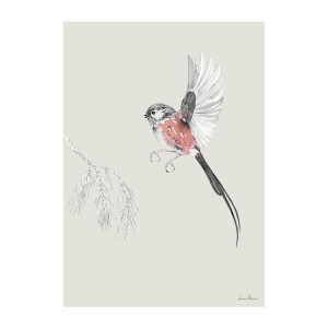 Long tailed Tit A3 Poster
