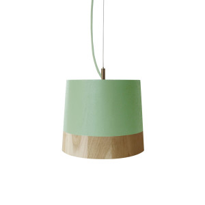 KIKKE & HEBBE Boost Pendant Lamp Wood - Mint