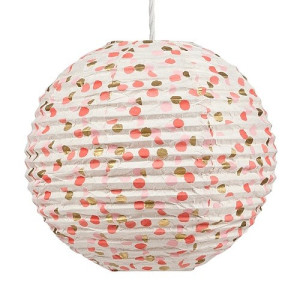 Return to Sender Lampion 46 cm - Stip Roze/Goud
