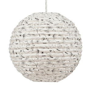 Return to Sender Lampion 46 cm - Bloem Zwart/Wit