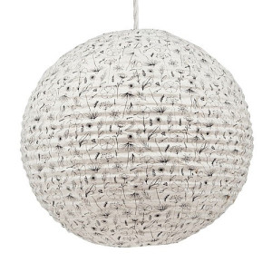 Return to Sender Lampion 53 cm - Bloem Zwart/Wit