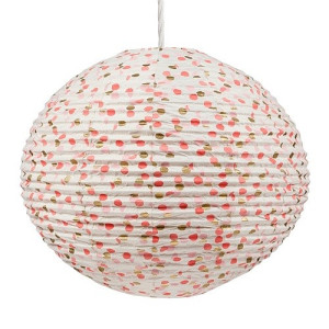 Return to Sender Lampion 53 cm - Stip Roze/Goud
