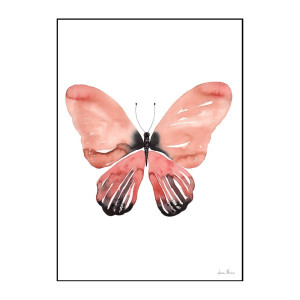 Orange butterfly A3 Poster