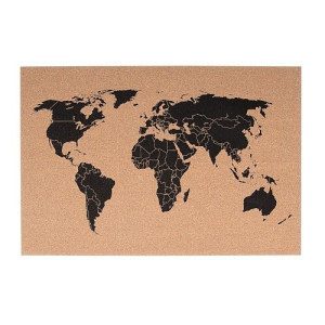pt, Membord Kurk World Map - 60 x 40 cm