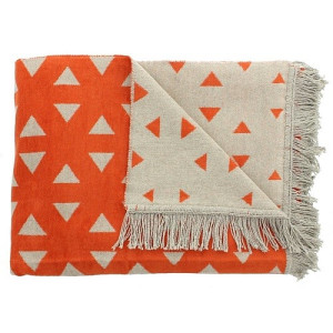 De Kussenfabriek Plaid Grada 150 x 200 cm - Orange