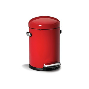 Simplehuman Retro Step Can Pedaalemmer 3 L - Rood