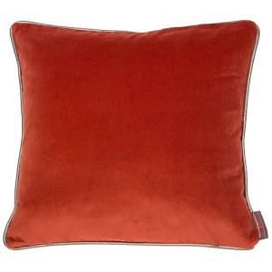 De Kussenfabriek Saffi Kussen 45x45 cm Burned Orange + Piping Gold € 59,-