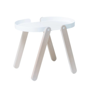 Tepsi Side Table - White