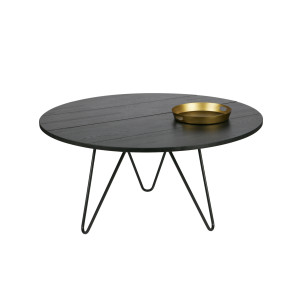vtwonen Circle XL eettafel blacknight Ø 150 cm Blacknight