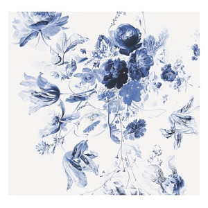 KEK Amsterdam Behang Royal Blue Flowers lll - 6-baans
