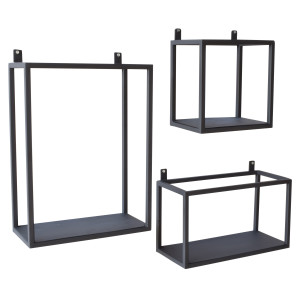 Urban Interiors wandboxes (Set van 3), kleur Vintage Black