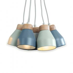 Albert clusterhanglamp, ochtendgrijs, zachtblauw en eierschaal