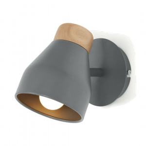 Albert wandlamp, houtskoolgrijs