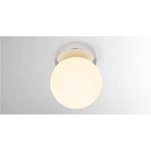 Apollo LED badkamerlamp, chroom en opaalglas
