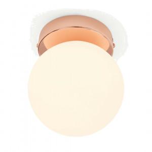 Apollo LED badkamerlamp, koper en opaalglas