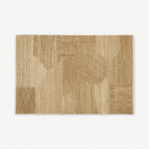 Arlettevloerkleed van jute met textuur, groot 160 x 230 cm, naturel