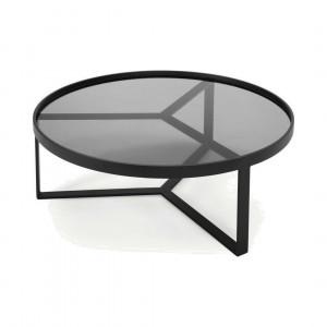 Aula salontafel, zwart en grijs