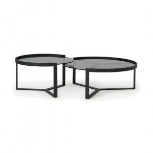 Aula salontafelset, zwart en grijs