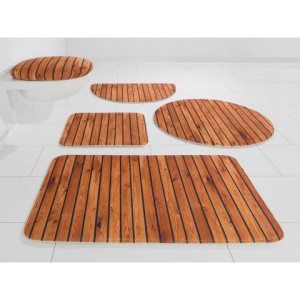 Badmat Hout-look, my home Selection, hoogte 14 mm, met antislip-coating