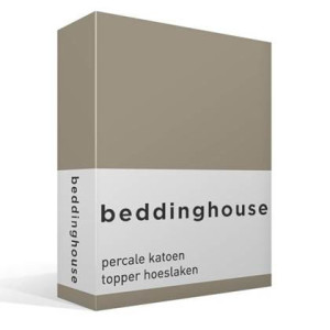 Beddinghouse percale katoen topper hoeslaken - 2-persoons (140x200
