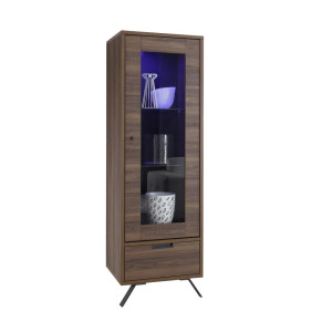 Benveuto Design Palma Vitrinekast Small Walnoot