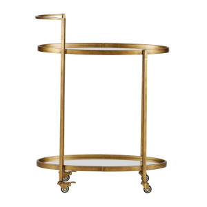 BePure Brass Push trolley metaal antique