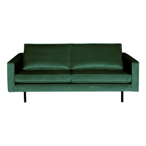 BePureHome Bank 2,5-zits 'Rodeo' Velvet, kleur Forest Green