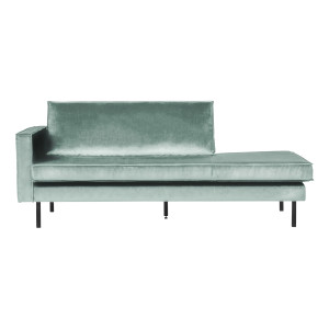 BePureHome Daybed 'Rodeo' Links, Velvet, kleur Mint