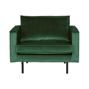 BePureHome Fauteuil 'Rodeo' Velvet, kleur Forest Green