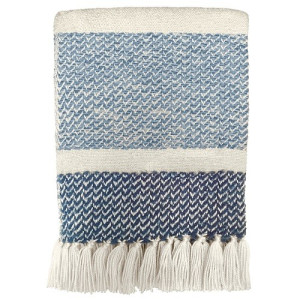 Malagoon Berber Plaid 125 x 150 cm - Grainy Blue