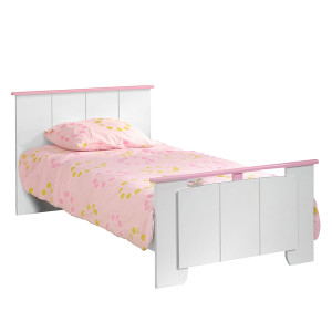 Bed Biotiful - wit/roze, Parisot Meubles