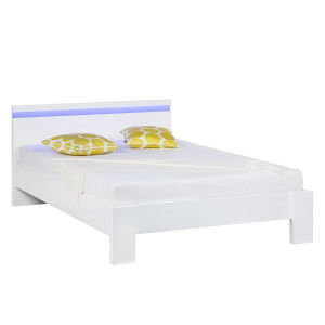 energie  A+, Bed Emblaze II - mat wit - LED-verlichting - 140 x 200cm, mooved