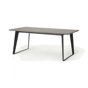 Boone eettafel, in betongrijs en zwart
