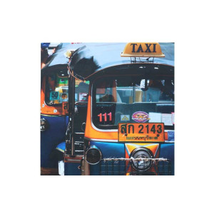 Label 51 canvas 'Tuk-tuk Taxi'