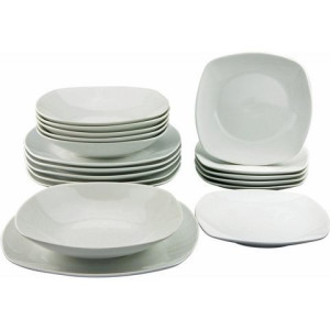 CREATABLE bordenset, porselein, 18-delig, SQUARE