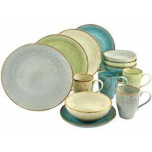 CREATABLE combi-servies, aardewerk, 16-delig, NATURE COLLECTION