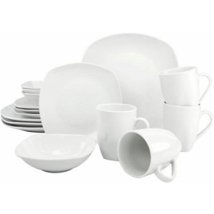 CREATABLE combi-servies, porselein, 16 delen, Square